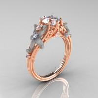 Fantasy Vintage 18K Two Tone Gold 1.0 CT Round White Sapphire Diamond Sea Star Engagement Ring R173-18KTTRGDWS-1