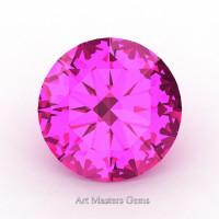 Art Masters Gems Calibrated 0.5 Ct Round Pink Sapphire Created Gemstone RCG0050-PS