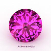 Art Masters Gems Calibrated 1.0 Ct Round Pink Sapphire Created Gemstone RCG0100-PS