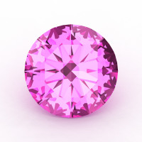 Art Masters Gems Calibrated 1.25 Ct Round Light Pink Sapphire Created Gemstone RCG0125-LPS