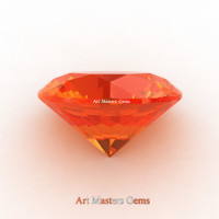 Art Masters Gems Calibrated 1.25 Ct Round Orange Sapphire Created Gemstone RCG0125-OS