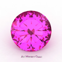 Art Masters Gems Calibrated 1.5 Ct Round Pink Sapphire Created Gemstone RCG0150-PS