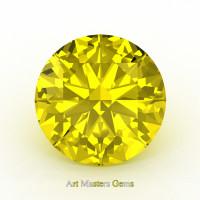 Art Masters Gems Calibrated 3.0 Ct Round Yellow Sapphire Created Gemstone RCG0300-YS