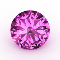 Calibrated 4.0 Ct Round Light Pink Sapphire Created Gemstone RCG0400-LPS