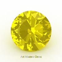Art Masters Gems Calibrated 4.0 Ct Round Yellow Sapphire Created Gemstone RCG0400-YS
