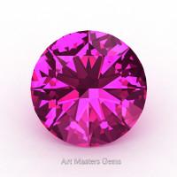 Art Masters Gems Calibrated 4.0 Ct Round Hot k Sapphire Created Gemstone RCG0400-HPS