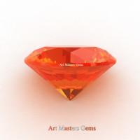 Art Masters Gems Calibrated 5.0 Ct Round Orange Sapphire Created Gemstone RCG0500-OS