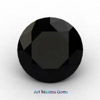 Art Masters Gems Calibrated 1.0 Ct Round Black Sapphire Created Gemstone RCG0100-BLS