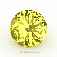 Art Masters Gems Calibrated 1.0 Ct Round Canary Yellow Sapphire Created Gemstone RCG0100-CYS