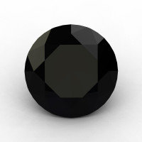 Art Masters Gems Calibrated 3.0 Ct Round Black Sapphire Created Gemstone RCG0300-BLS