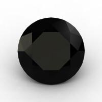 Art Masters Gems Calibrated 4.0 Ct Round Black Sapphire Created Gemstone RCG0400-BLS