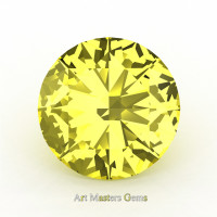 Art Masters Gems Calibrated 4.0 Ct Round Canary Yellow Sapphire Created Gemstone RCG0400-CYS