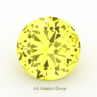 Art Masters Gems Calibrated 5.0 Ct Round Canary Yellow Sapphire Created Gemstone RCG0500-CYS
