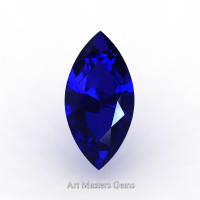 Art Masters Gems Standard 0.5 Ct Marquise Blue Sapphire Created Gemstone MCG0050-BS