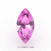 Art Masters Gems Calibrated 0.5 Ct Marquise Light Pink Sapphire Created Gemstone MCG0050-LPS