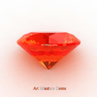 Art Masters Gems Calibrated 5.0 Ct Round Padparadscha Sapphire Created Gemstone RCG0500-POS