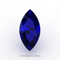 Art Masters Gems Standard 0.75 Ct Marquise Blue Sapphire Created Gemstone MCG0075-BS