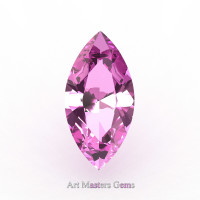 Art Masters Gems Calibrated 1.25 Ct Marquise Light Pink Sapphire Created Gemstone MCG0125-LPS