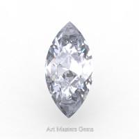 Art Masters Gems Standard 1.5 Ct Marquise White Sapphire Created Gemstone MCG0150-WS