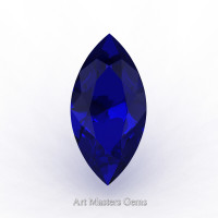 Art Masters Gems Standard 2.0 Ct Marquise Blue Sapphire Created Gemstone MCG0200-BS