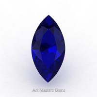 Art Masters Gems Standard 2.5 Ct Marquise Blue Sapphire Created Gemstone MCG0250-BS
