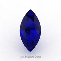Art Masters Gems Standard 3.0 Ct Marquise Blue Sapphire Created Gemstone MCG0300-BS