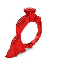 Caravaggio Jewels Venus 14K Red Gold 1.0 Ct Ruby Engagement Ring R643E-14KREGR