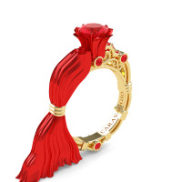 Caravaggio Exclusive Venus 14K Red and Yellow Gold 1.0 Ct Ruby Engagement Ring R643E-14KREYGR