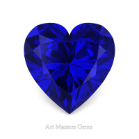 Art Masters Gems Standard 0.5 Ct Heart Blue Sapphire Created Gemstone HCG050-BS