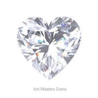 Art Masters Gems Standard 0.5 Ct Heart White Sapphire Created Gemstone HCG050-WS