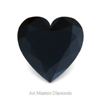 Art Masters Gems Standard 0.75 Ct Heart Black Diamond Created Gemstone HCG075-BD
