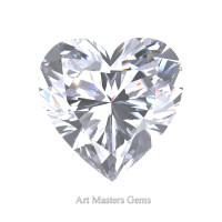 Art Masters Gems Standard 1.0 Ct Heart White Sapphire Created Gemstone HCG100-WS