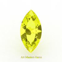 Art Masters Gems Standard 1.0 Ct Marquise Yellow Sapphire Created Gemstone MCG100-YS