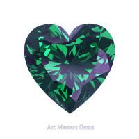 Art Masters Gems Standard 1.25 Ct Heart Russian Alexandrite Created Gemstone HCG125-RAL