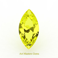 Art Masters Gems Standard 1.25 Ct Marquise Yellow Sapphire Created Gemstone MCG125-YS