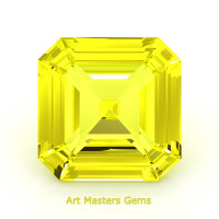 Art Masters Gems Standard 1.5 Ct Asscher Yellow Sapphire Created Gemstone ACG150-YS