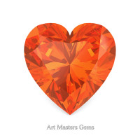 Art Masters Gems Standard 1.5 Ct Heart Orange Sapphire Created Gemstone HCG150-OSArt Masters Gems Standard 1.5 Ct Heart Orange Sapphire Created Gemstone HCG150-OS