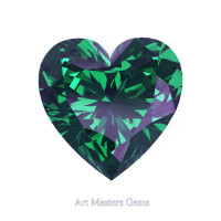 Art Masters Gems Standard 1.5 Ct Heart Russian Alexandrite Created Gemstone HCG150-RAL