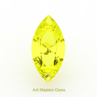 Art Masters Gems Standard 1.5 Ct Marquise Yellow Sapphire Created Gemstone MCG150-YS