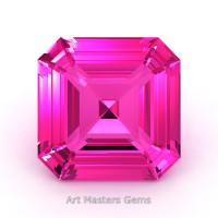 Art Masters Gems Standard 2.0 Ct Asscher Pink Sapphire Created Gemstone ACG200-PS