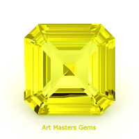 Art Masters Gems Standard 2.0 Ct Asscher Yellow Sapphire Created Gemstone ACG200-YS