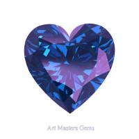 Art Masters Gems Standard 2.0 Ct Heart Alexandrite Created Gemstone HCG200-AL