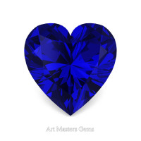 Art Masters Gems Standard 2.0 Ct Heart Blue Sapphire Created Gemstone HCG200-BS