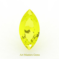 Art Masters Gems Standard 2.5 Ct Marquise Yellow Sapphire Created Gemstone MCG250-YS