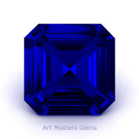 Art Masters Gems Standard 3.0 Ct Royal Asscher Blue Sapphire Created Gemstone ACG300-BS