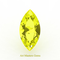 Art Masters Gems Standard 3.0 Ct Marquise Yellow Sapphire Created Gemstone MCG300-YS