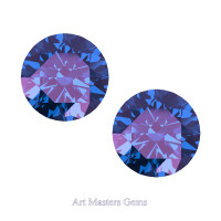 Art Masters Gems Set of Two Standard 1.5 Ct Alexandrite Gemstones RCG150S-AL