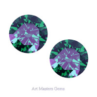 Art Masters Gems Set of Two Standard 1.5 Ct Russian Alexandrite Gemstones RHG150S-RAL