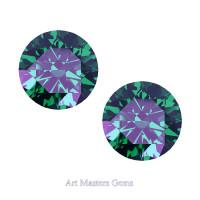 Art Masters Gems Set of Two Standard 2.5 Ct Russian Alexandrite Gemstones RCG250S-RAL