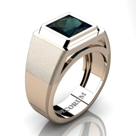 Decorum-Mens-Modern-14K-Rose-Gold-3-Carat-Princess-Alexandrite-Wedding-Ring-R1132-14KRGAL